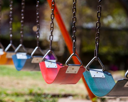 colorful Playground swings